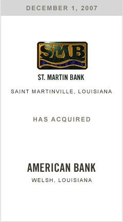 St. Martin Bank has acquired American Bank