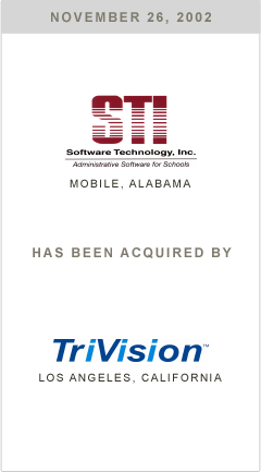 Software Tech has been acquired by TriVision.